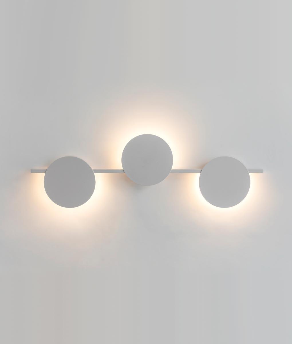 Aplique blanco tres luces 24W ERIS LED