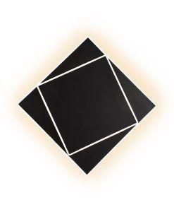 Aplique de pared negro 18W DAKLA LED