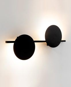 Aplique negro dos luces 16W ERIS LED