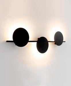 Aplique negro tres luces 24W ERIS LED