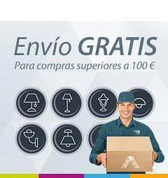 Tu envío gratis a partir de 100 euros en La Casa de la Lámpara :-)