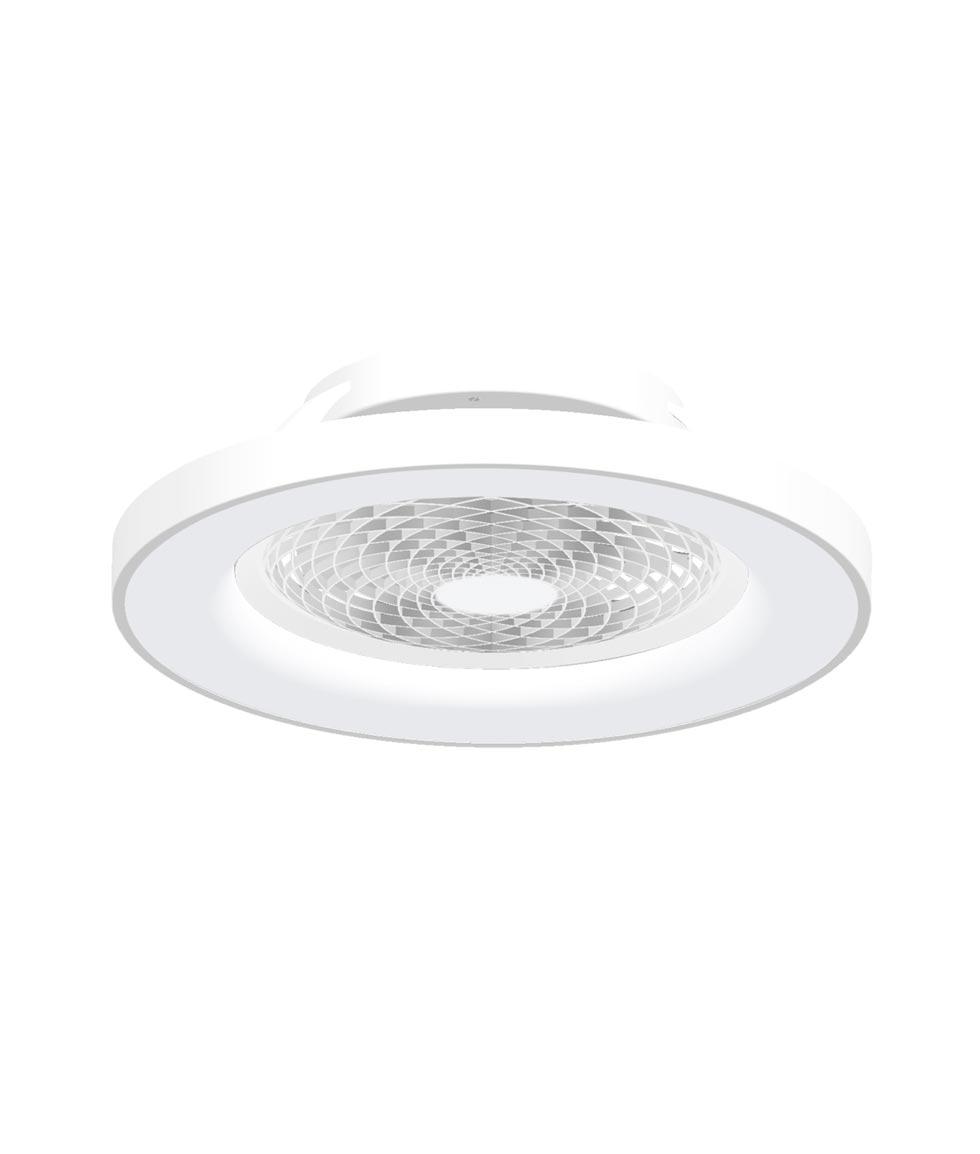 Plafón ventilador blanco inteligente Ø 65 cm TIBET LED