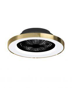 Plafón ventilador negro dorado smart Ø 65 cm TIBET