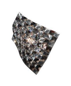 Aplique de cristal y cromo SATEN G9