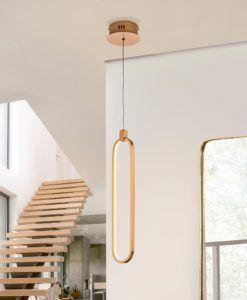 Colgante acabado oro rosa COLETTE LED