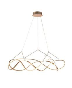 Lámpara acabado oro rosa 110 cm Ø MOLLY LED