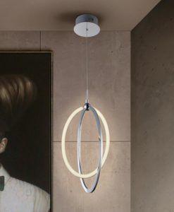 Lámpara cromada 22 cm Ø OCELLIS LED