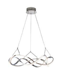 Lámpara cromada 53 cm Ø MOLLY LED