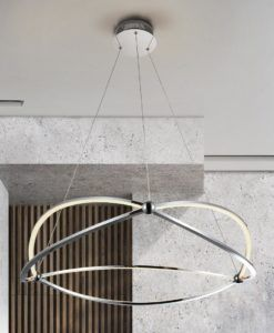 Lámpara cromada 80 cm Ø OCELLIS LED