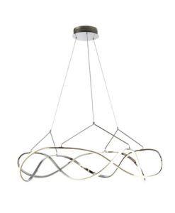 Lámpara de techo cromo 110 cm Ø MOLLY LED