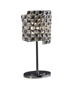 Lámpara de mesa de cristal y cromo SATEN G9