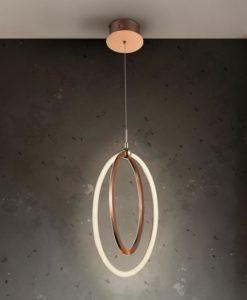 Lámpara oro rosa 22 cm Ø OCELLIS LED