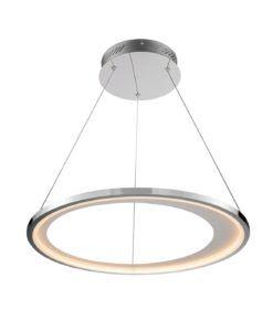 Lámpara cromo 62 cm Ø LARIS LED