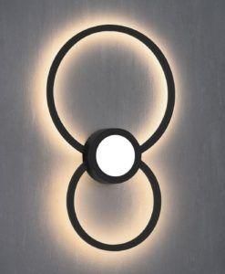 Aplique negro MURAL LED 24W luz cálida