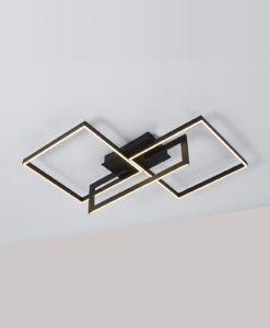 Plafón negro MURAL LED 48W luz cálida