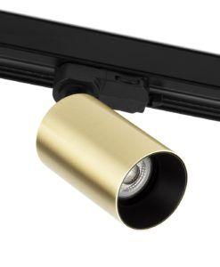 Foco proyector de carril oro satinado STAN