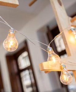 PACK de 3 Guirnaldas de luces decorativas STELLA