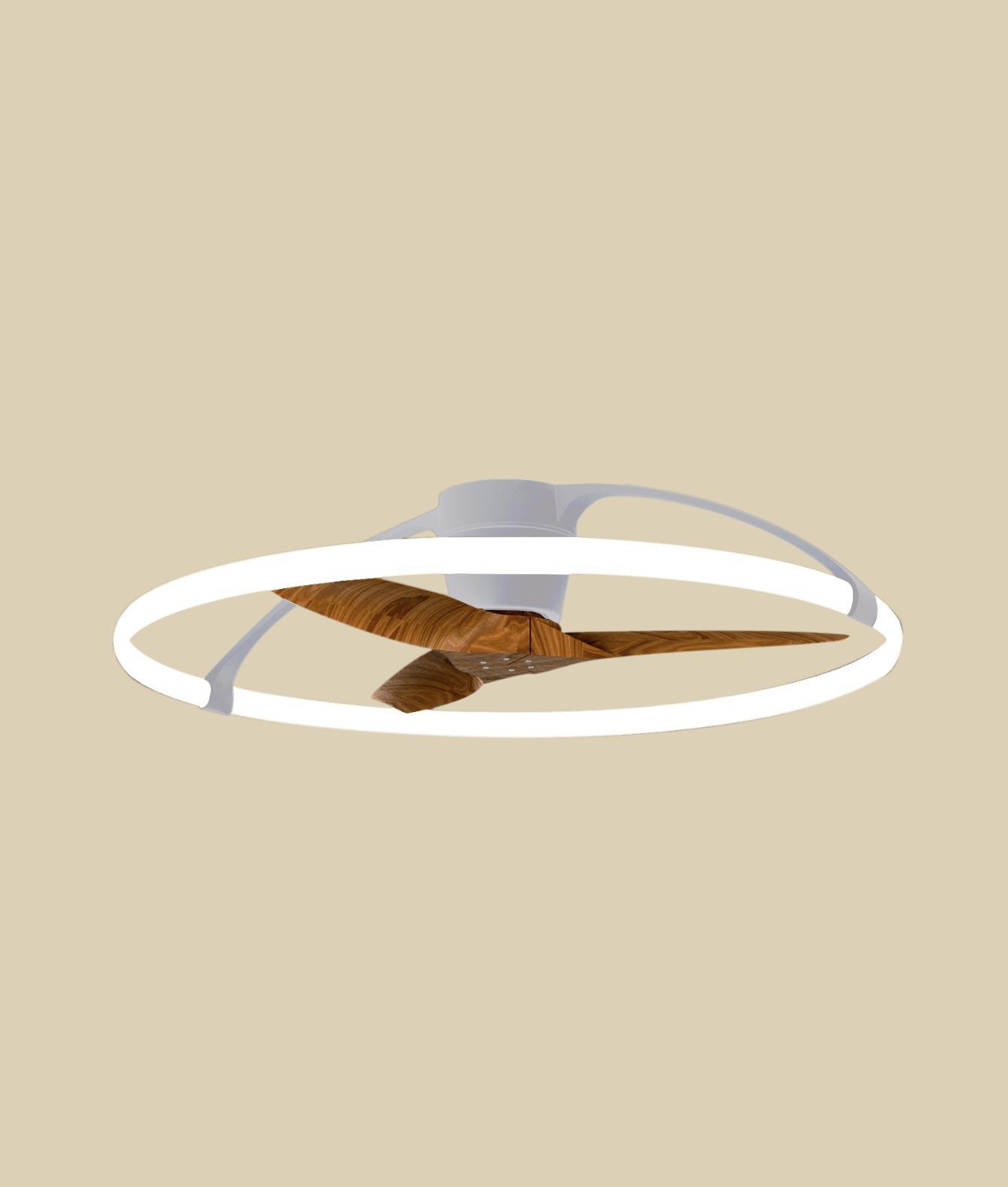 ventiladores inteligentes: NEPAL Plata y nogal Ø 104 cm 1