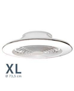 Ventilador plafón ALISIO XL blanco Ø 73,5 cm