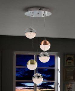 Lámpara 5 luces LED dimable SPHERE