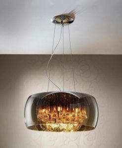 Lámpara cristal espejado y lágrimas dimable Ø 50 cm ARGOS