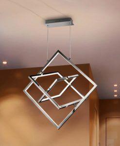 Lámpara cromo CUADROS LED