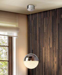 Lámpara de techo cromo SPHERE LED Ø 20 cm