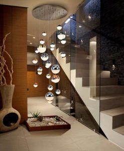 Lámpara grande 27 luces LED dimable SPHERE Ø 80 cm