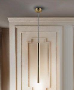Lámpara LED dimable oro brillo VARAS